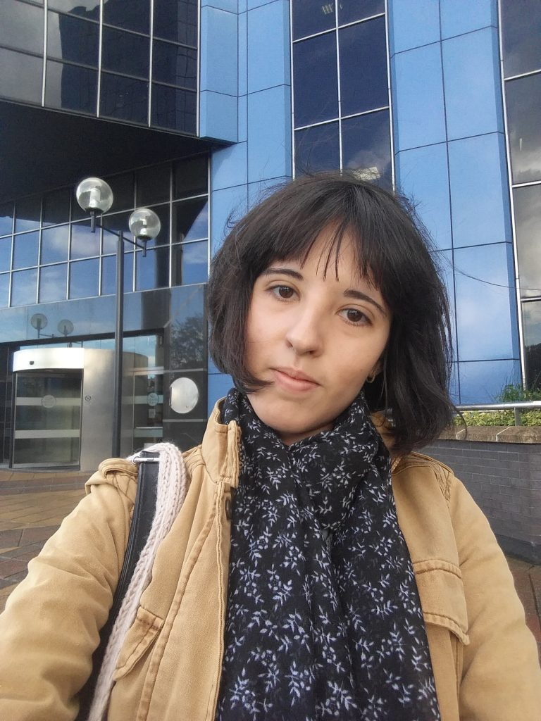 Ioana Pintilie on her first day at HMRC digital