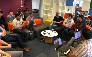 Test community catch up at our digital delivery centre in Telford