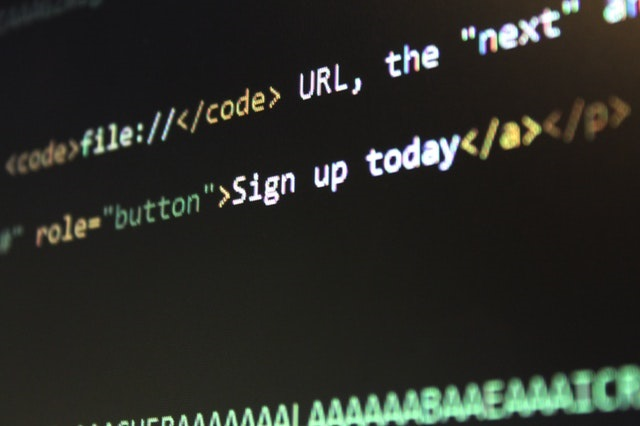 Code on a computer screen