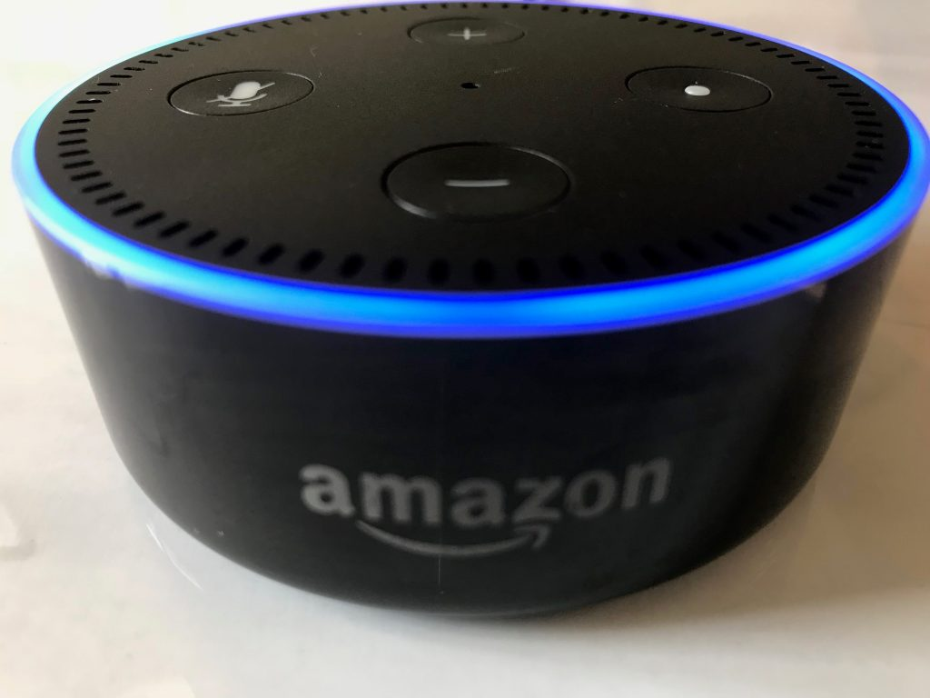 An image of an Alexa Echo