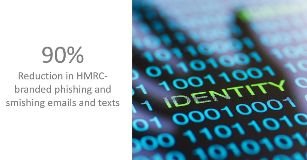 HMRC-digital-90%-reduction-in-smishing