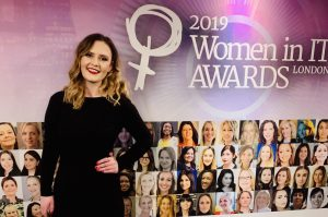 Rosie Woodhead at the Women In IT Awards finals night