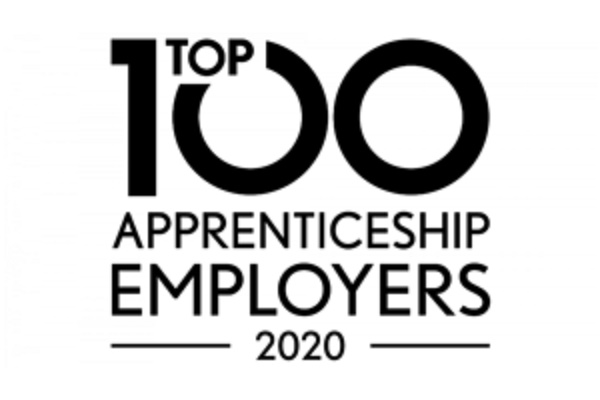 Top 100 apprenticeship employers 2020 logo