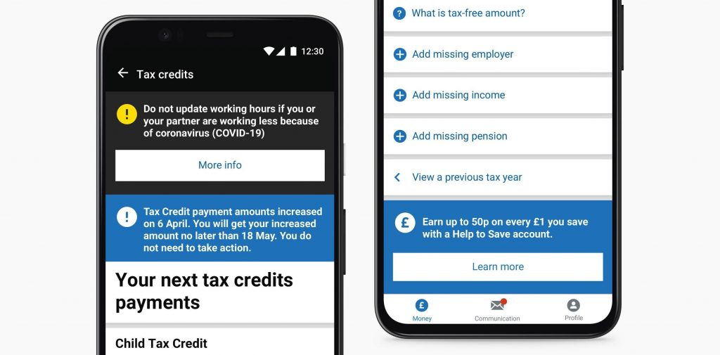 Expanding Row component in situ on the tax credits and PAYE screens